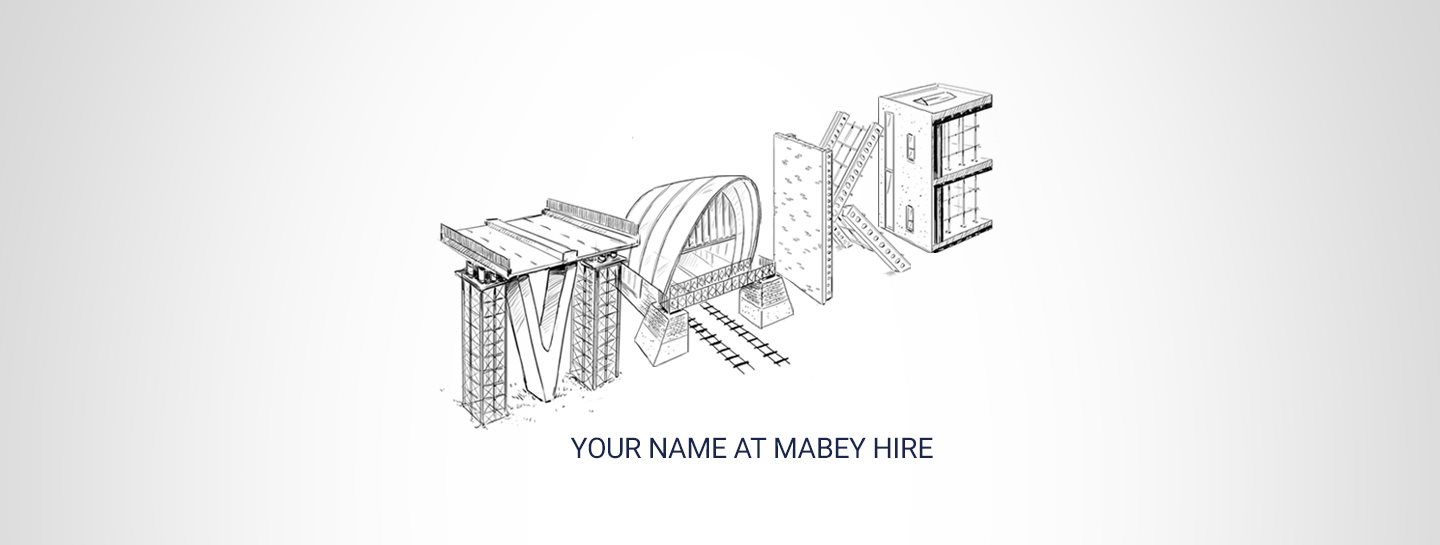 Make your name at Mabey Hire banner