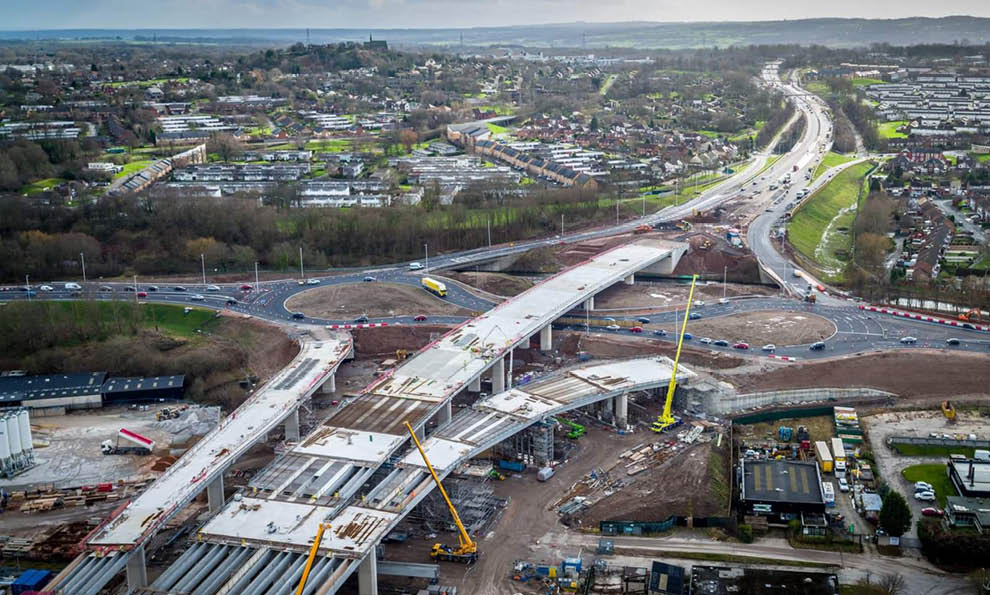 Construction of the Mersey Gateway bridge