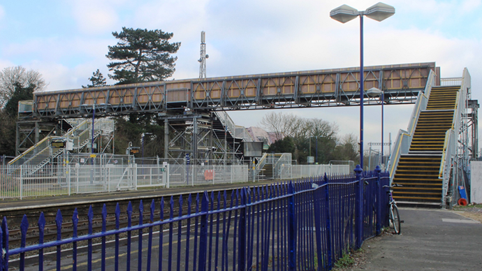 Footbridge over a railway
